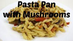 Delicious #pasta pan with #mushrooms. This pasta dish comes with fresh #veggies such as mushrooms, green #onions, #tomato and #basil and it's super easy to make. | Leckere #Nudelpfanne mit #Pilzen. Dieses Nudelgericht beinhaltet einiges an frischem #Gemüse wie #Pilze, #Frühlingszwiebeln, #Tomate und #Basilikum und super einfach zu machen. | #food #dinner #lunch #cooking #kochen #delicious #yummy #lecker #kitchen #küche #DIY