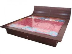 Wooden Double Bed Without Mattress | Used Furniture for Sale