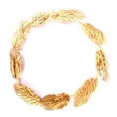 Coroa Grega Flhas Douradas - ALUÁ FESTAS