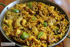 Recipe of chicken and rabbit fideuá (Direct To The Palate) - Comida Española Spanish Kitchen, Spanish Food, Sin Gluten, Recipe Collection, Pasta Dishes, Entrees, Chicken Recipes, Appetizers, Yummy Food