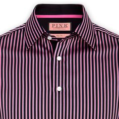 Longford Stripe Shirt - Double Cuff by Thomas Pink