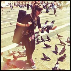 And to your left we have Lindsey Stirling being attacked by pigeons