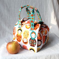 Custom Insulated Bento Box Carrier / Lunch Tote / Lunch Bag - Reusable - Washable - Choose Your Fabric on Etsy, $34.00
