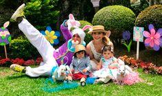 Jorge Salinas, el conejo de Pascua más divertido para sus mellizos, Máxima y León