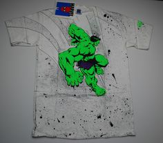 Vintage The Incredible Hulk Marvel Comics '91 T Shirt 1991 1990's M Original | eBay