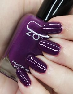 Zoya Nail Polish in Bentley from the Luscious Collection  Swatches Zoya Nail Polish, Nail Polish Colors, Nice Nails, Fun Nails, Let It Shine, Purple Makeup, Beauty Review, Bubblegum Pink, Holiday Nails