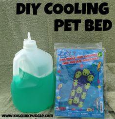 DIY Cooling Pet Bed