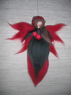 Weihnachtssternelfe Bird, Animals, Guardian Angels, Fairies, Crafting, Animales, Animaux, Birds, Animal