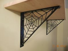 .Mike Maloney Spider Web Shelf Brackets- hand crafted