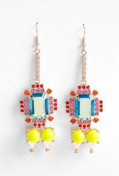 statement jeweled drop earrings