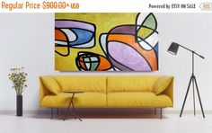 Vibrant Colorful Mid Century Modern Abstract-0-31