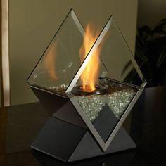 diamond tabletop fireplace | indoor outdoor decor | bio-ethanol portable fire