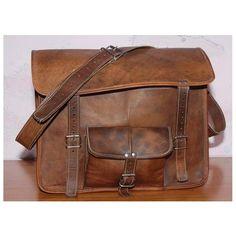 c5c7b2509b Handmade Vintage Camel Leather Laptop Messenger bag Very Soft Leather Size  - x X inches Adjustable shoulder strap One Front Pocket and Chain Pocket  Inside ...