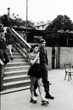 A G.I. and his girl, Frankfurt, photo by Tony Vaccaro, 1946