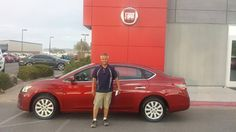 Congratulations Daniel on your new 2015 Nissan Sentra from Greg and the Findlay Fiat Family! #FindlayFiat http://www.fiatusaofhenderson.com/