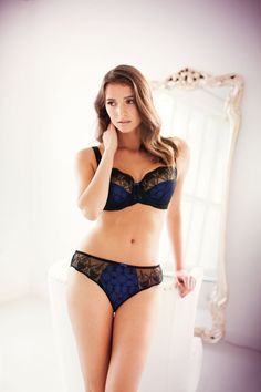 The sophisticated Elodie collection creates a naturally feminine shape, accentuated with beautiful black embroidery delicately placed across an indulgent cobalt lining.