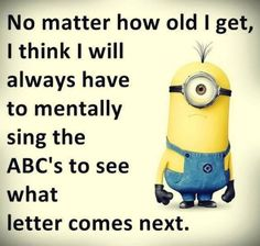 Minions sing ABC's. 。◕‿◕。 See my Despicable Me Minions pins https://www.pinterest.com/search/my_pins/?q=minions