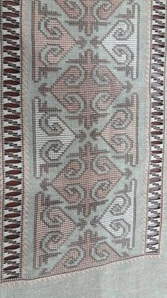 This Pin was discovered by zül Cross Stitch Borders, Modern Cross Stitch, Cross Stitch Patterns, Beaded Embroidery, Cross Stitch Embroidery, Embroidery Patterns, Needlepoint, Needlework, Bohemian Rug
