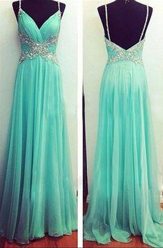 V-Neck Prom Dresses Beaded Prom Dress