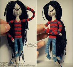 Marceline the Vampire Queen Crochet Amigurumi - Adventure Time Tight stitching. Amigurumi perfection.