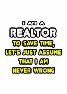 So always listen to the realtor, hehe!