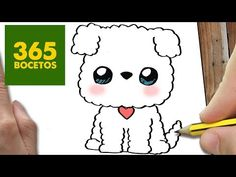COMO DIBUJAR PERRO WHATSAPP KAWAII PASO A PASO - Dibujos kawaii faciles - How to…
