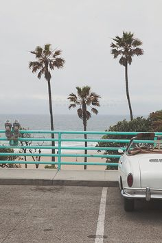 TITLE: Cruisin Manhattan Beach DESCRIPTION: Vintage Convertible at Manhattan Beach, California. *Printed without watermark onto luster paper by