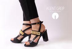 AGENT GREIPStuds belt sandals  #shoes #kicks #girl #fashion #love #studs #black #cool #sandals #coordinate #beautiful #シューズ #サンダル #コーディネート