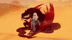 Vamers - Artistry - Game of Thrones Imagined as a Disney Movie - Art by Anderson Mahanski and Fernando Mendonça - Daenerys Targaryen