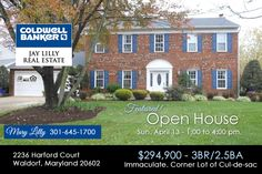 Open House in Waldorf, April 13 | SoMdRealEstateNetwork.com
