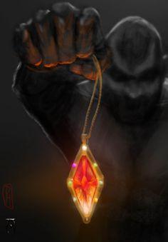 Mehrunes Dagon & The Amulet of Kings by tartankiwigameart