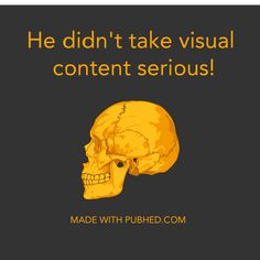 Take your visual content seriously with Pub'hed. #seriousvisuals #visualator