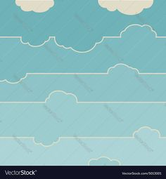 Vector image of Blue sky with clouds Vector Image, includes white, background, wallpaper, retro & landscape. Illustrator (.ai), EPS, PDF and JPG image formats.