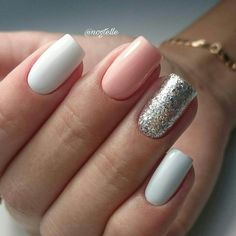 Semi-permanent varnish, false nails, patches: which manicure to choose? - My Nails Cute Acrylic Nails, Acrylic Nail Designs, Cute Nails, Stylish Nails, Trendy Nails, Dipped Nails, Dream Nails, Nagel Gel, Powder Nails