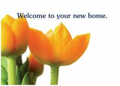 'Welcome to your new home.' greeting card.  Navigate to Special Interest, Business.