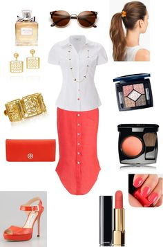 A fashion look from February 2013 featuring white top, high heels sandals  and tory burch bags. cbe3d5aa9b