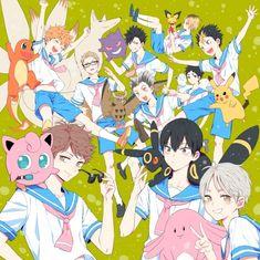 Haikyuu in sailor uniforms? Haikyuu Kageyama, Kenma Kozume, Haikyuu Funny, Kuroken, Haikyuu Fanart, Haikyuu Anime, Nishinoya, Oikawa, Anime Crossover