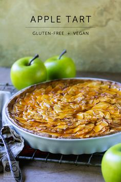 apple tart | gluten-free + vegan