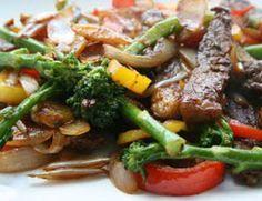 Tirinha de carne com legumes