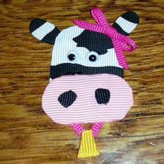 Cow hair clip ..journeys into bows