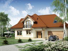 DOM.PL™ - Projekt domu DA Minor 2 CE - DOM DS1-47 - gotowy koszt budowy House Construction Plan, Bungalow House Plans, Dream House Exterior, Little Houses, Home Fashion, House Design, Cabin, House Styles, Home Decor