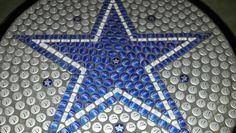 Dallas Cowboys bottle cap table