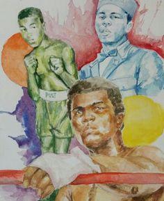 Muhammad Ali ( watercolor )