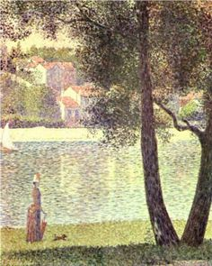 The Seine at Courbevoie - Georges Seurat, 1885