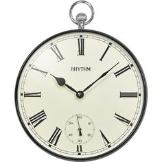 ساعة حائط زجاج محدب ماركة ريثم - RHYTHM