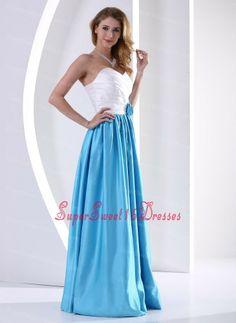 White and Aqua Blue Sweetheart Hand Made Flower and Ruch Sweet 16 Dama Dresses 2013 Taffeta