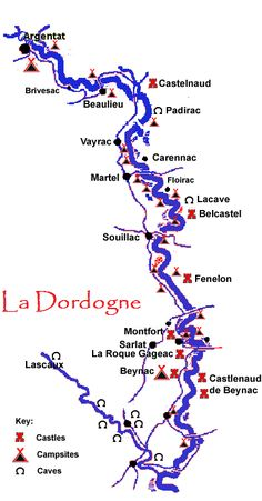 map of the Dordogne river france - Google Search