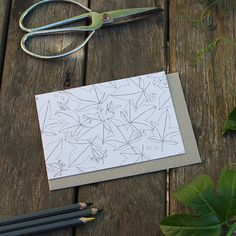 Floral Vine Botanical Greeting Card Colour Your Own Ink Color, Colour, Pressed Leaves, Paper Leaves, Vines, Greeting Cards, Handmade Gifts, Studio, Floral