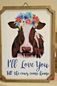Farmhouse Decor, Dream Decor, Pioneer Woman Kitchen Decor, Cow Wall Decor, Cow Kitchen Decor, Floral Signs, Mexican Style Kitchens, Wall Tapestry, Happy Birthday Floral
