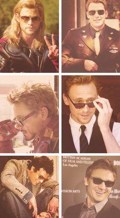 Avengers in sunglasses.